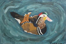 DUCK OIL PAINTING SIGNED