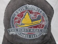 Ski Doo Bombardier Snowmobile Brown Corduroy Hat S/M The First Real One