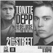 1989 FOX TV AD~JOHNNY DEPP~PETER DELUISE~21 JUMP STREET~UNDERCOVER POLICE UNIT