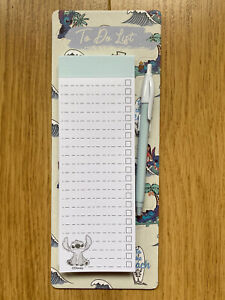 PRIMARK Disney Lilo And Stitch To Do List With Pen And Magnetic Back NEW DESIGN