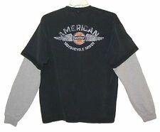 "Sz XL ""American Motorcycle Mfg Co"" T-Shirt w/ Set-In Sleeves BARTELS' CHOPPERS"