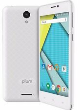 Plum Might Unlocked Smart Cell Phone 4G Gsm Android ATT Tmobile MetroPCS Z515WHT