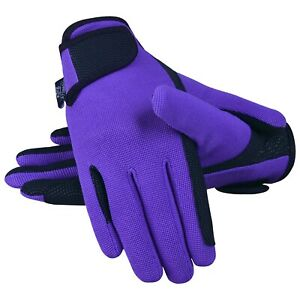 Equestrian Horse Riding Gloves LADIES Synthetic Leather Cotton Dublin Shires