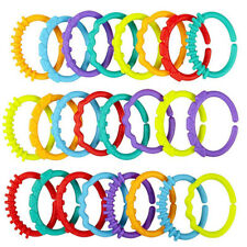 24X Silicone Teething Ring Unisex Infant Teether Soothing Gums Teething Bracelet