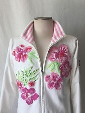 BOGNER BEAUTIFUL WHITE with EMBROIDERY and SIDE POCKETS WINDBRACKER. L. 42