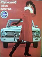 1966 Plymouth Valiant Barracuda Swedish International Dealer Sales Brochure