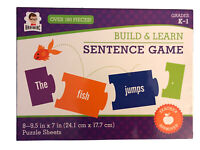 NEW Build & Learn 180 PCS Sentence Building Game Educational for Grades K-1