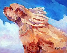Cocker Spaniel Dog 8x10 Art PRINT Signed by Artist Ron Krajewski Painting