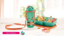 New Tupperware Kids Lunch Set - Straw Tumbler (1) Bento Box (1) Straw Brush (1)