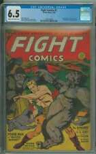 FIGHT COMICS #7 CGC 6.5 CR/OW PAGES