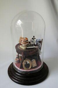 Dollhouse Miniature Diorama Room Scene Under Glass Baking Bowling Shopping Gramp