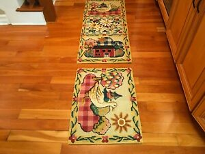 2 PC Set Hand tuffted Indian Wool Rug