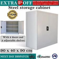 Steel Storage Cabinet Locker Office Furniture Cupboard Stationery File Garage