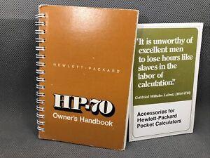 MANUAL, Hewlett Packard HP-70 Classic Series Financial Calculator, Good