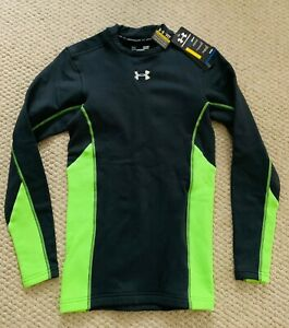 NEW Men's UNDER ARMOUR MOCK COLD GEAR COMPRESSION SHIRT fleece lined size S