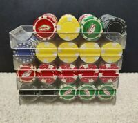 380 Casino Gaming Poker Chip Mixed Lot Las Vegas Used with 4 Trays