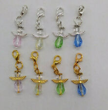 5 or 20pc Handmade Beaded Guardian Angel Zipper Pull/ Charm; Thank You Gifts