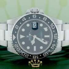 Rolex GMT-Master II 40MM Black Ceramic Bezel Stainless Steel Mens Oyster 116710