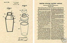 COCKTAIL SHAKER PATENT Art Print READY TO FRAME!!!!! 1930 deco Cooke CLASSIC