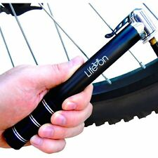Mini Bicycle Tire Pump Air Presta Valve Schrader Adapter Gauge Bike Tool