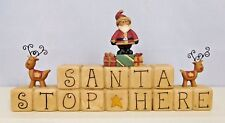 Santa Stop Here block with Santa and Reindeer - New Blossom Bucket #80638