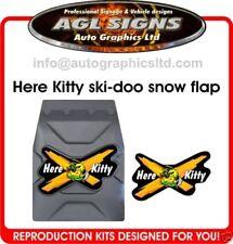Here Kitty Kitty Ski-doo Snow Flap Decal   snow guard  mxz rev xp