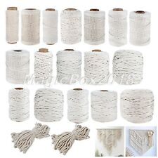 1 Roll Natural Beige Macrame Rope Twisted Cotton Cord String DIY Gift Kit 1-10mm