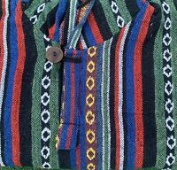 Mens Hooded Poncho Mexican Baja Coat Unbrushed Cape Nepalese Cotton Hoodie #04