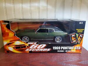 Ertl American Musle 1969 Pontiac GTO  Gone In 60 Seconds 1:18 Scale Diecast Car