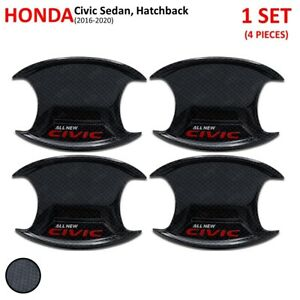For Honda Civic Sedan Hatchback 2016 20 Carbon Bowl Insert Handle Hand Cover