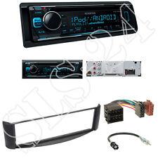 Kenwood KDC300UV CD/USB Radio + Smart ForTwo 98-07  Blende schwarz + ISO Adapter