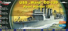 USS WARD DD-139 - PEARL HARBOR 1941 (U.S. WICKES-CLASS DESTROYER) 1/400 MIRAGE