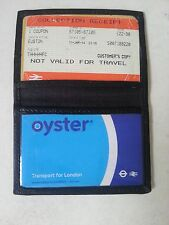 Genuine Hand Made Soft Leather Bus Pass Oyster ID Credit Card Travel Wallet Thin