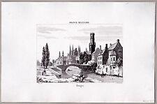 Brügge, Belgien - Schöne Ansicht - Stich - Kupferstich 1835