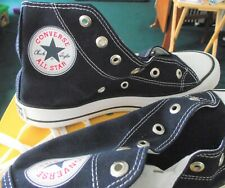 CONVERSE NAVY BLUE CHUCK TAYLOR ALL STAR HI TOP CANVAS TRAINERS UK 6 EU 39 NEW