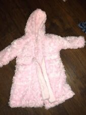 sz 12 18 24 m Blankets and Beyond pink SOFT robe hood belt tie EUC boutique