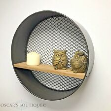 Round Wall Hanging Shelf Display Shabby Chic Vintage Industrial Style Kitchen