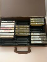 Lot Of 18 Cassette Tapes W/ Carrying Case Remembering The 60s Kenny Rogers +More