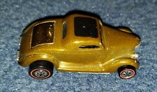 Original Hot Wheels Redline 36 Ford Coupe Gold with Black Top 1969 Usa