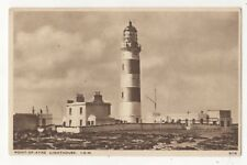 Point Of Ayre Lighthouse Isle Of Man Vintage Postcard