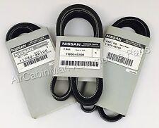 GENUINE Drive Belt Set fits Nissan 1999-2004 V6 Frontier 3.3L
