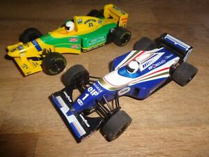 SCALEXTRIC C492 BENETTON FORD B193 #5 & WILLIAMS RENAULT FW15C #1 F1 RACE PAIR