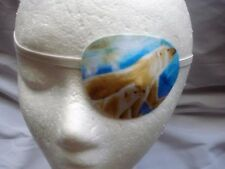 Adult unisex handmade eye patch with a Polar Bear theme-vision care-eye wear aid
