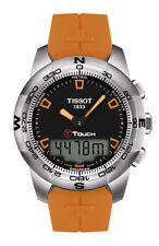 Sportliche Tissot Armbanduhren mit gebürstetem Uhrengehäuse