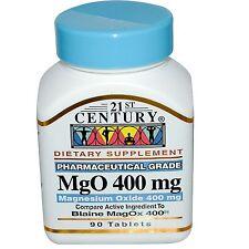 Ossido di magnesio, 400 MG X 90 schede, MGO - 21st Century Health