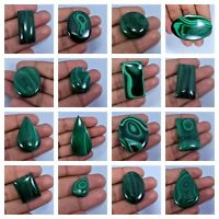 Natural Green Malachite Cabochon Semi Precious Loose Gemstone MLa