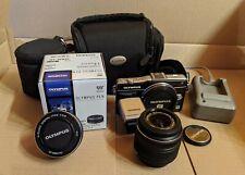 Olympus PEN E-PM2 Digitalkamera - Olympus 14-42mm & 17mm Objektiv etc.