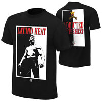 """Official WWE Authentic Eddie Guerrero """"Addicted to the Heat"""" Retro T-Shirt Black"""