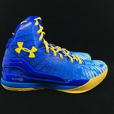 Under Armour Curry Clutchfit Drive Sneakers New, Blue/Yellow 1246937-428 SIZE 7Y