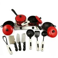 13pcs Kitchen House Utensil Cookware Cooking Toy Set Kids Pretend Play Gift Toys